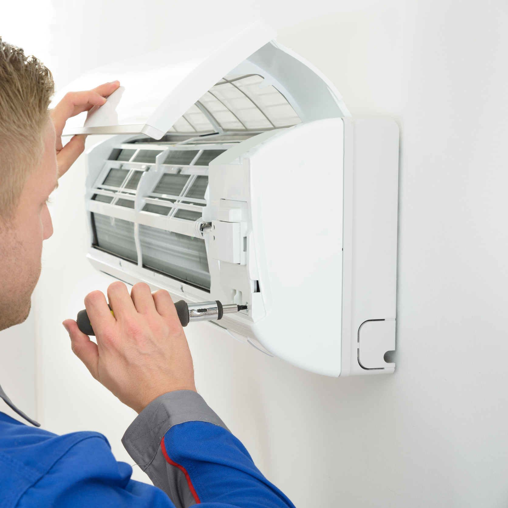 Replacing parts of an indoor AC unit